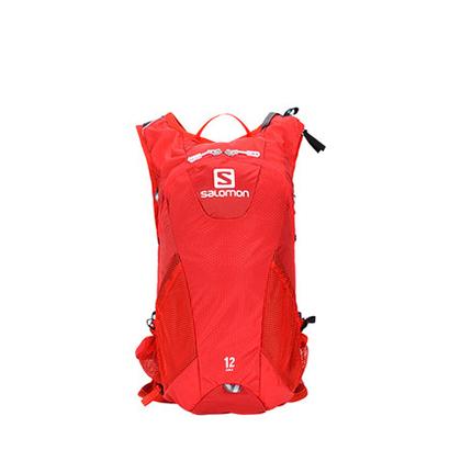 萨洛蒙Salomon 男女款户外越野跑背包 AGILE2 12 SET 角斗红