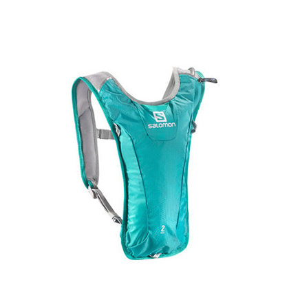 薩洛蒙Salomon 男女款戶外越野跑背包 配1.5L水袋 AGILE 2 SET 水鴨綠