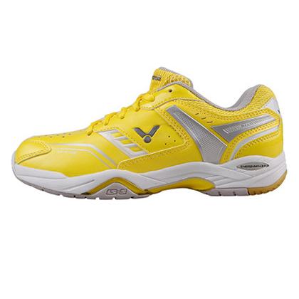 胜利VICTOR羽毛球鞋 SH-A710LN 女款 鹅黄色 (耐磨、透气、减震、防滑)