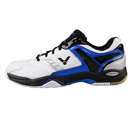 胜利VICTOR羽毛球鞋 SH-A710F白蓝色(耐磨、透气、减震、防滑)