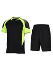 范斯蒂克 男款短袖跑步服 速干运动套装 黑拼荧光绿(渐变印花,漫威主角既视感)