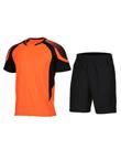 范斯蒂克 男款短袖跑步服 速干运动套装 橙黑拼色(渐变印花,漫威主角既视感)