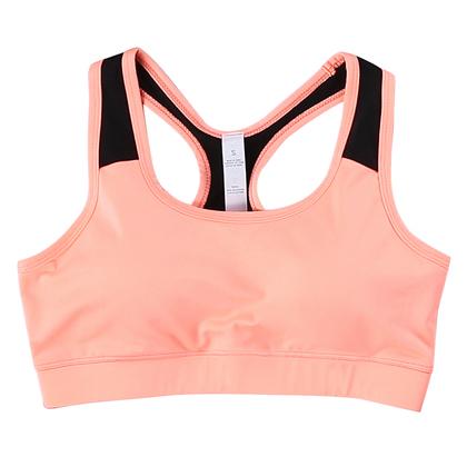 范斯蒂克 女款跑步背心 跑步胸衣 防震运动内衣 粉色(轻盈运动无负担)