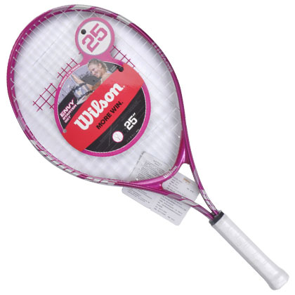 威尔胜Wilson儿童网球拍 Envy Pink Starter Set (WRT220300)