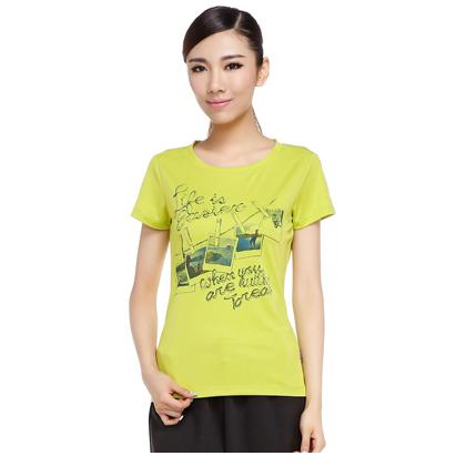 探路者Toread 短袖功能T恤 TAJD82887-D37X 女式 樱草绿