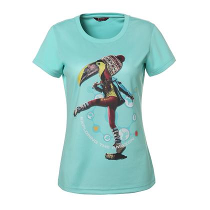 探路者Toread 短袖速干T恤 TAJC82859-C13X 女式 粉蓝