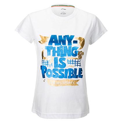 李宁羽毛球短袖文化衫 AHSL268-2 女款(飒爽英姿,飒出你的个性)
