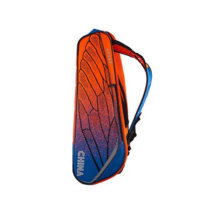 李宁羽毛球包 ABJM082-1 六支装 橙蓝色 双肩包(轻翼有型,3M反光)