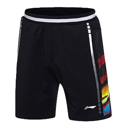 李宁羽毛球短裤 AAPM069-2 男款 标准黑(2017世锦赛国羽新短裤)