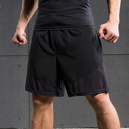范斯蒂克 男款跑步健身短裤 速干跑步短裤 MBF70508 浅灰流光(轻如蝉翼,速干透气)