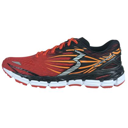 361°国际版跑步鞋 Sensation2 男款 Y701-4 警示红/黑色(稳定支撑专业缓震跑鞋)