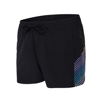 范斯蒂克 女款跑步健身短裤 速干跑步短裤 FBF70301 红蓝流光(轻如蝉翼,速干透气)?