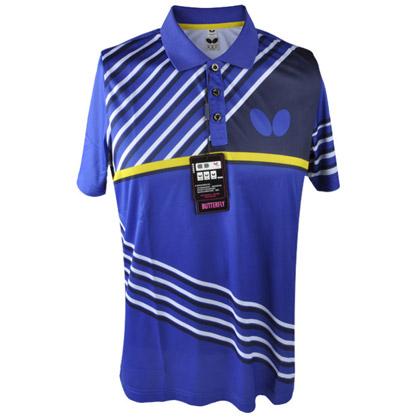 蝴蝶BUTTERFLY乒乓球服 蝴蝶BWH-271短袖T恤 蓝色 男女通用款