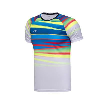 李宁羽毛球比赛服  AAYM067-1 男款 白色(2017年世锦赛国家队战衣)