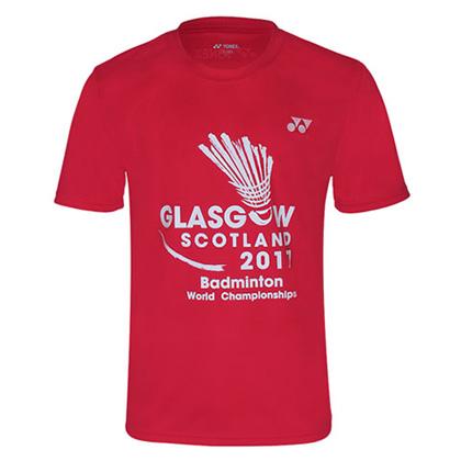 尤尼克斯YONEX运动T恤 YOBC6035CR 男款 红色(世锦赛纪念T恤)