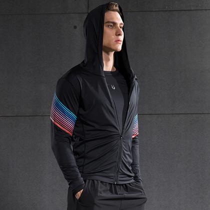 范斯蒂克 男款流光四件套 跑步套装 健身套装 红蓝流光(全季度跑步套装) 短袖 长袖 短裤 长裤