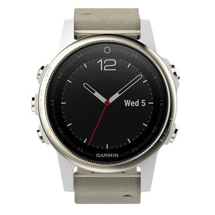 GARMIN佳明fenix5S 飞耐时5S 多功能GPS户外手表 中文蓝宝石皮表带版(户外探险,三星定位)