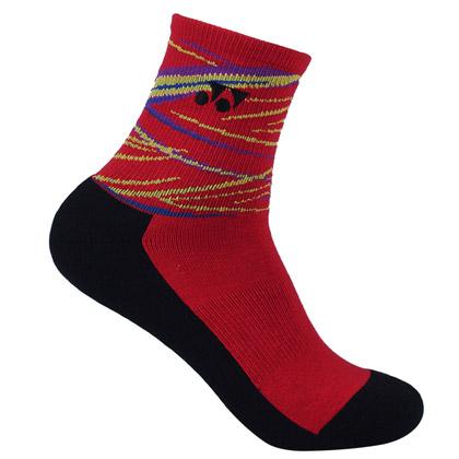 尤尼克斯YONEX 羽毛球袜 245017CR 女袜 红色(舒适透气,加厚耐磨)