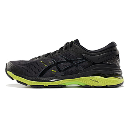 ASICS亚瑟士 K24 GEL-KAYANO 24 公路稳定慢跑鞋 男 T7A0N-9085 黑(宽楦版型,释放双脚)