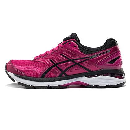 亚瑟士ASICS GT2000-5 女款跑步鞋慢跑鞋 T757N-2090 粉色/黑(经典升级,全面稳定)