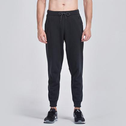 范斯蒂克 男款秋冬长裤 宽松运动健身卫裤 MBF74001黑色(永不落伍的时尚运动风)