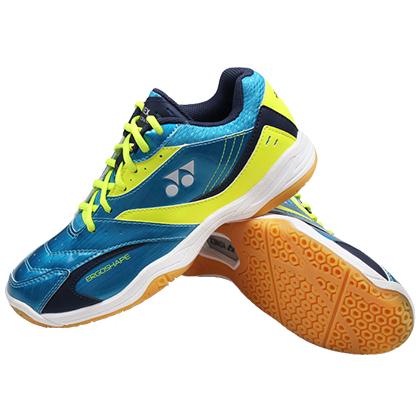 尤尼克斯YONEX羽毛球鞋 SHB-49C 青绿黄色 男女款(超强包裹,扎实脚感)