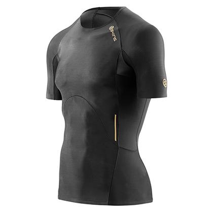 SKINS思金斯A400 男子梯度压缩短袖上衣 ZB99320049001 黑色(精准压缩,肌肉支撑)