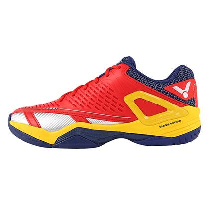 胜利VICTOR羽毛球鞋 SH-P9300DE稳定型羽毛球鞋 鲜红/明黄