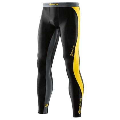 SKINS思金斯 DNAmic梯度压缩长裤 Black/Citron 男 DA9905001923(精准压缩,肌肉支撑)