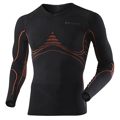 X-BIONIC 聚能系列 运动保暖排汗紧身长袖衣 男 I20093 黑色(3D恒温,排汗保暖)
