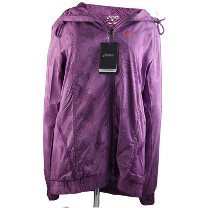 ASICS 亚瑟士运动夹克 女款 紫色(轻松跑步,享受运动)