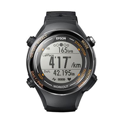 EPSON 爱普生 RUNSENSE 超马级光电心率GPS运动腕表 SF-850 别致黑(精准定位,心率监测)
