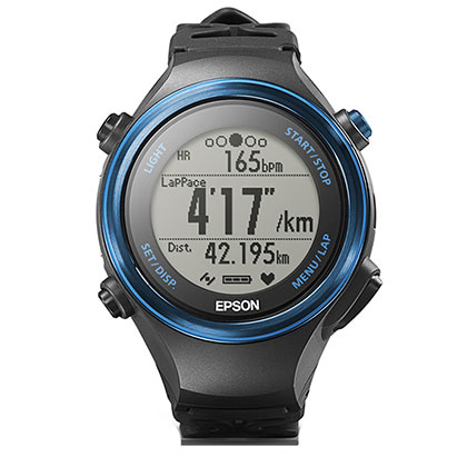 EPSON 爱普生 RUNSENSE 超马级光电心率GPS运动腕表 SF-850 公路蓝(精准定位,心率监测)