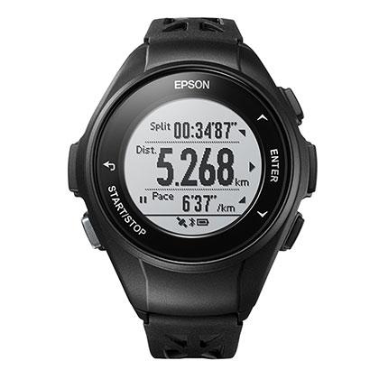 EPSON 爱普生 PROSENSE GPS运动手表 J-10 刚毅黑(日本品牌,为运动而生)