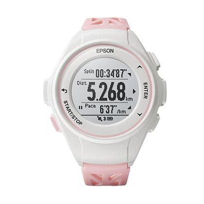 EPSON 爱普生 PROSENSE GPS运动手表 J-10 樱花粉(日本品牌,为运动而生)