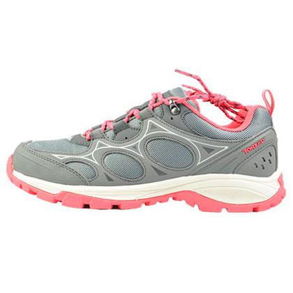 探路者女式徒步鞋 KFAF92371-G07A 中灰/伊甸粉(防撕耐磨,强劲抓地)