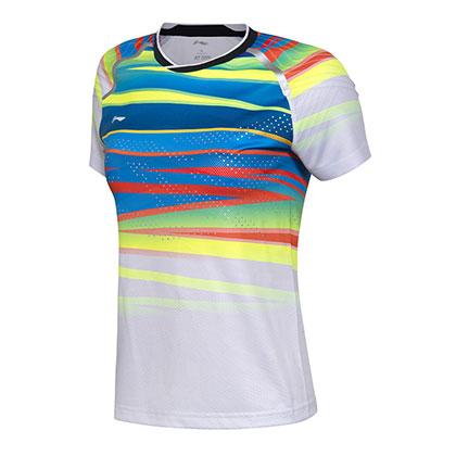 李宁羽毛球比赛服 AAYM048-1 女款 白色(世锦赛国家队战衣)