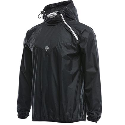 范斯蒂克 男款跑步外套 健身服 发汗服 MBF77301 黑色(燃烧脂肪,健身塑性)