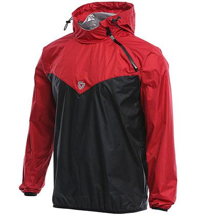 范斯蒂克 男款跑步外套 健身服 发汗服 MBF77302 红/黑(燃烧脂肪,健身塑性)