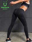 范斯蒂克 跑步裤 瑜伽裤 提臀裤 健身裤 FBF031 黑色(速干透气,弹力提臀)