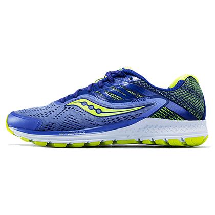 Saucony圣康尼跑鞋ride10女款跑鞋S10373-1 紫/蓝/柠檬黄(动态缓震,抓地耐磨)