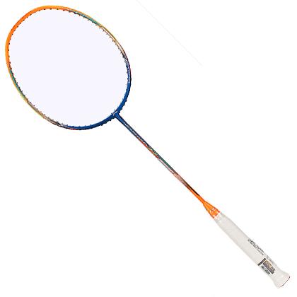 李宁羽毛球拍 WS72 风暴72 蓝橘款 超轻羽拍 可拉30磅 AYPM192-1  热销中端球拍