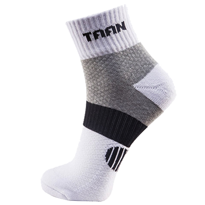 泰昂TAAN运动袜 T-348 男款 中帮 加厚毛巾底,吸汗,防臭,柔软,耐磨,包裹 白/黑款