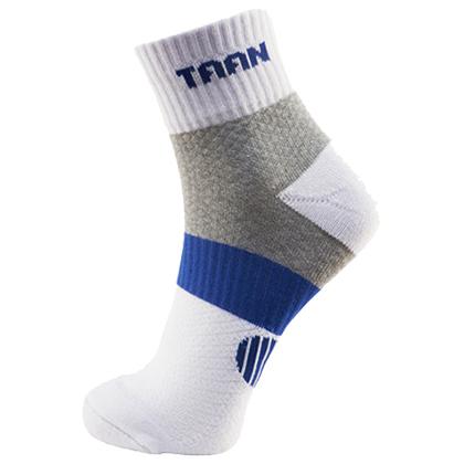 泰昂TAAN运动袜 T-348 男款 中帮 加厚毛巾底,吸汗,防臭,柔软,耐磨,包裹 白/蓝款