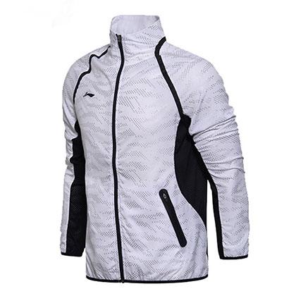 李宁运动上衣 AYYM031-1 男款标准白(国家队世锦赛领奖服)