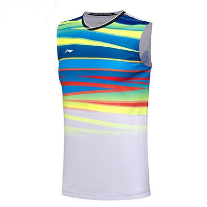 李宁羽毛球比赛背心 AVSM101-1 男款 白色(2017年世锦赛球迷版战衣)