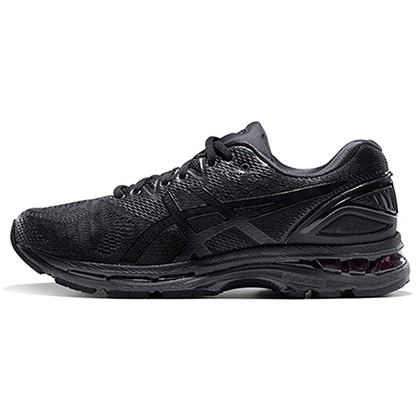 亚瑟士ASICS GEL-NIMBUS 20跑步鞋N20男款缓震慢跑鞋T800N-9090黑色(蓄能减震,至轻回弹)