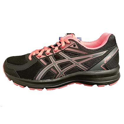 ASICS 亚瑟士跑步鞋 JOLT 女款缓震跑鞋 T7K8N-9097 黑色/白麻灰(入门跑者性价比之选)