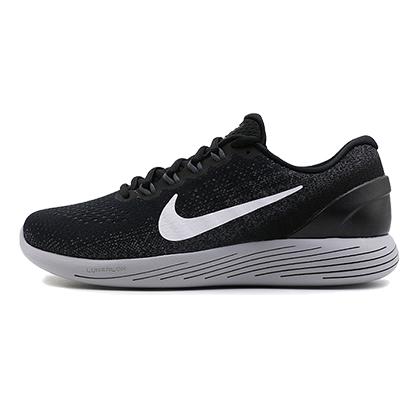 耐克NIKE 跑步鞋 LUNARGLIDE 9 登月9男款缓震跑鞋 904715-001 黑色(缓震当道,蓄力回弹)