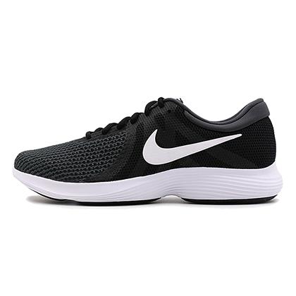 耐克NIKE 跑步鞋 Revolution 4男款透气缓震跑步鞋 908988-001 黑色(轻盈缓震,轻松畅跑)